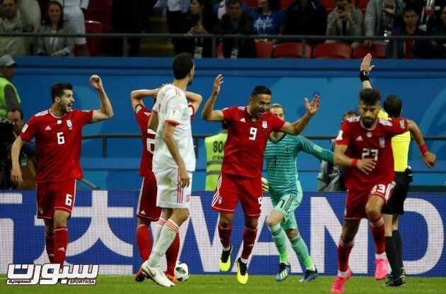 صور من لقاء اسبانيا و ايران – مونديال كأس العالم