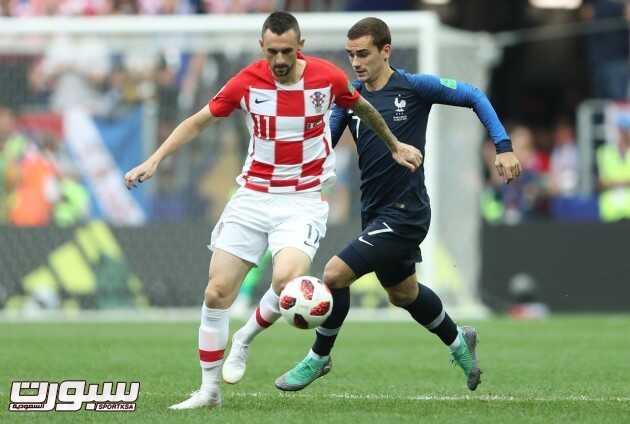 صور من لقاء فرنسا و كرواتيا – نهائي كأس العالم 2018