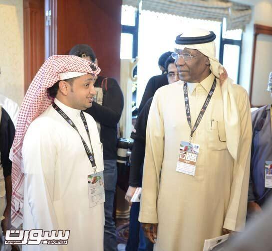 علي الزهراني مع أحمد عيد في أحدى المناسبات الرياضية