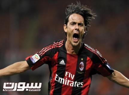 AC Milan's forward Filippo Inzaghi celeb