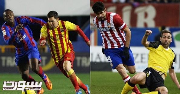 برشلونة و اتليتكو مدريد