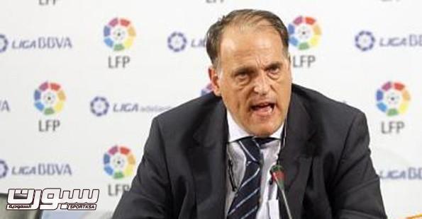 خافيير تيباس رئيس رابطة الدوري الاسباني لكرة القدم