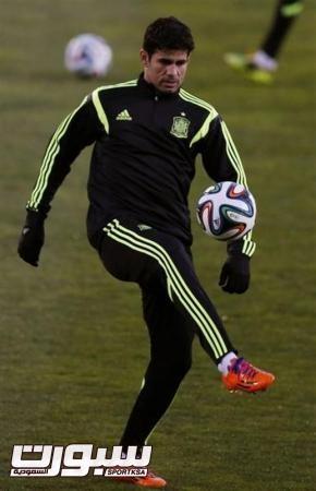 كوستا يتدرب مع منتخب اسبانيا لأول مرة
